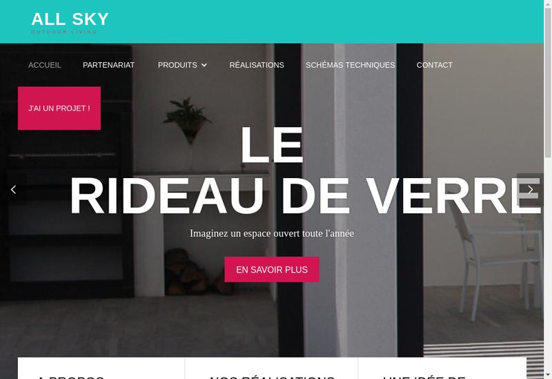 Capture d'écran du site de Allsky
