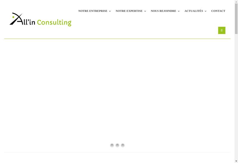 Capture d'écran du site de All In Consulting