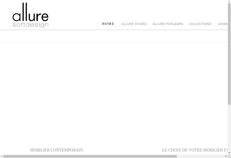 Capture d'écran du site de Allure Soft Design