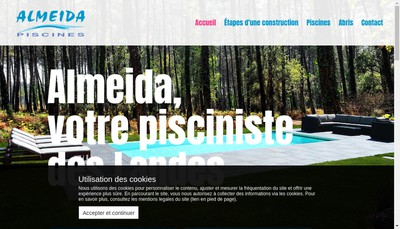 Site internet de Almeida Piscines