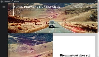 Site internet de Alpes Provence Caravanes