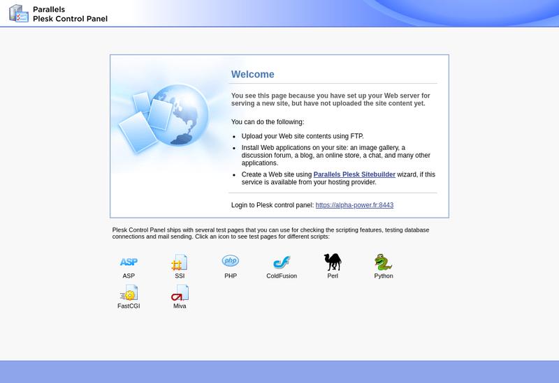 Capture d'écran du site de Alpha Power Technologie