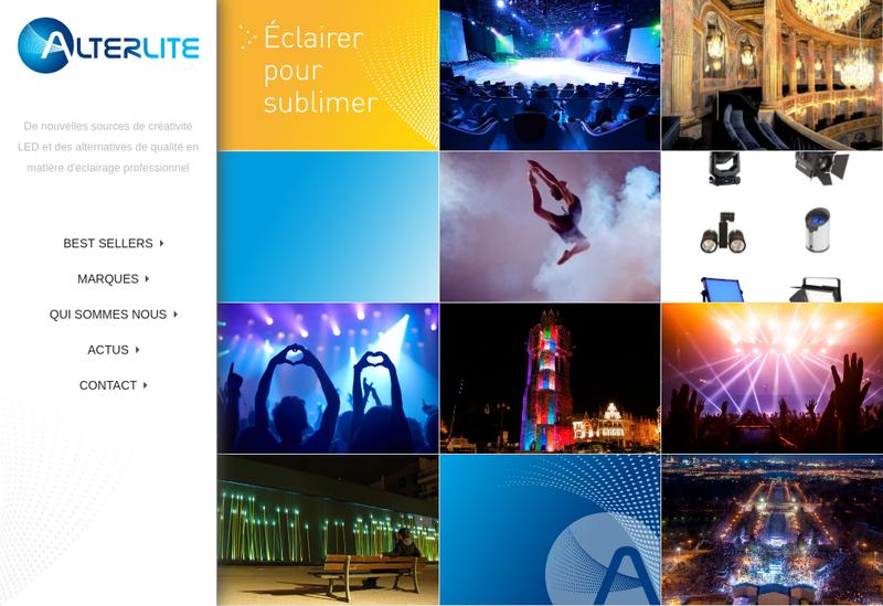Capture d'écran du site de Alterlite