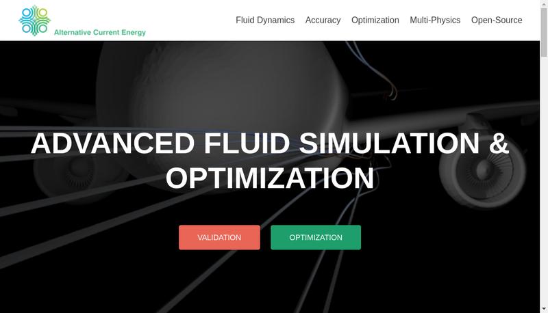 Capture d'écran du site de Alternative Current Energy