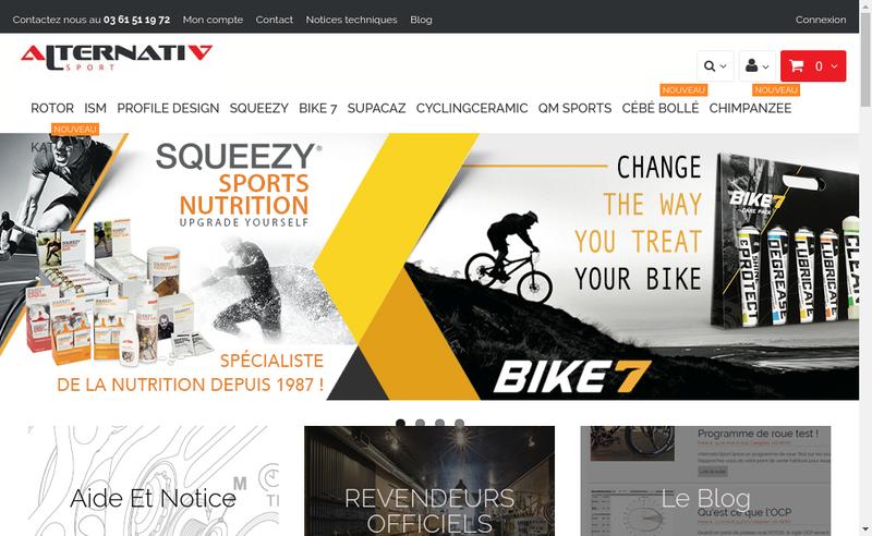 Capture d'écran du site de Alternativ Sport