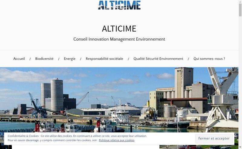 Capture d'écran du site de Alticime