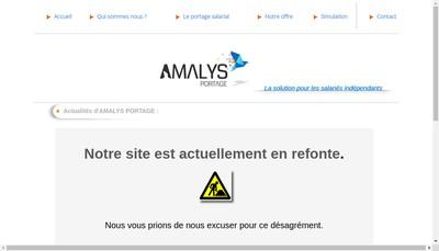 Site internet de Amalys Portage