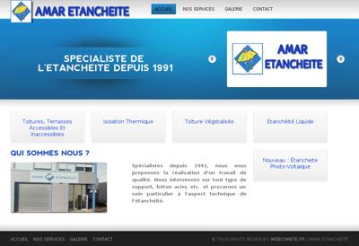 Capture d'écran du site de Amar Etancheite