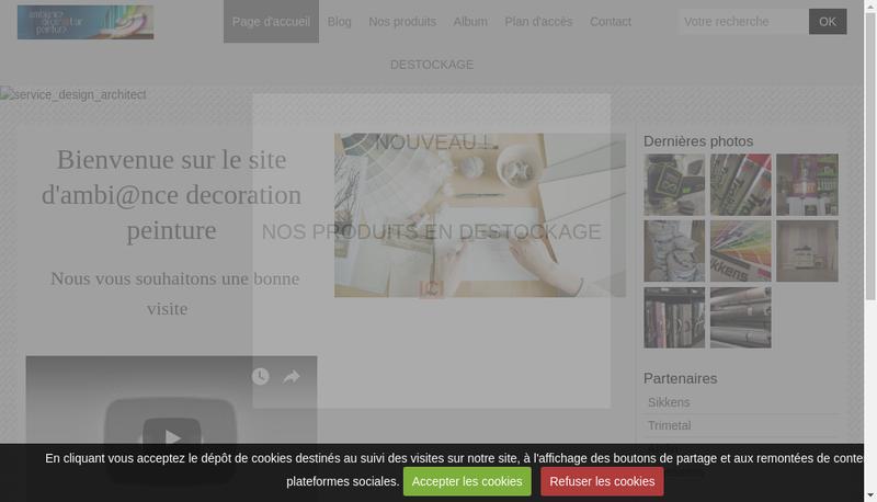 Capture d'écran du site de Ambiance Decoration Peinture