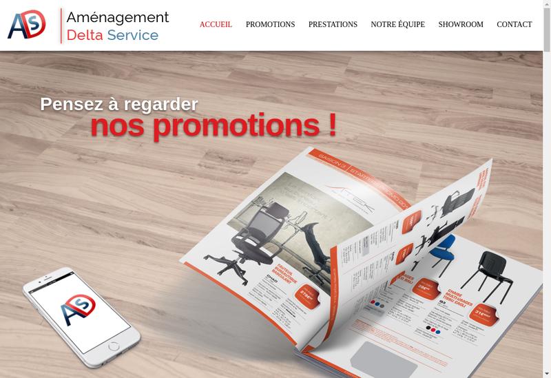 Capture d'écran du site de Ads - Amenagement Delta Service
