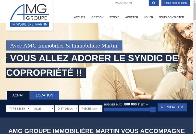 Capture d'écran du site de Immobiliere Martin
