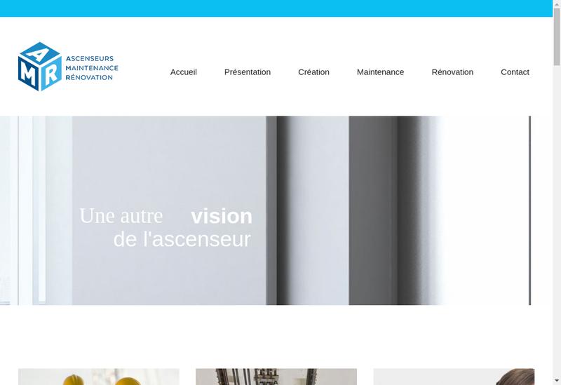 Capture d'écran du site de Ascenseur Maintenance Renovation