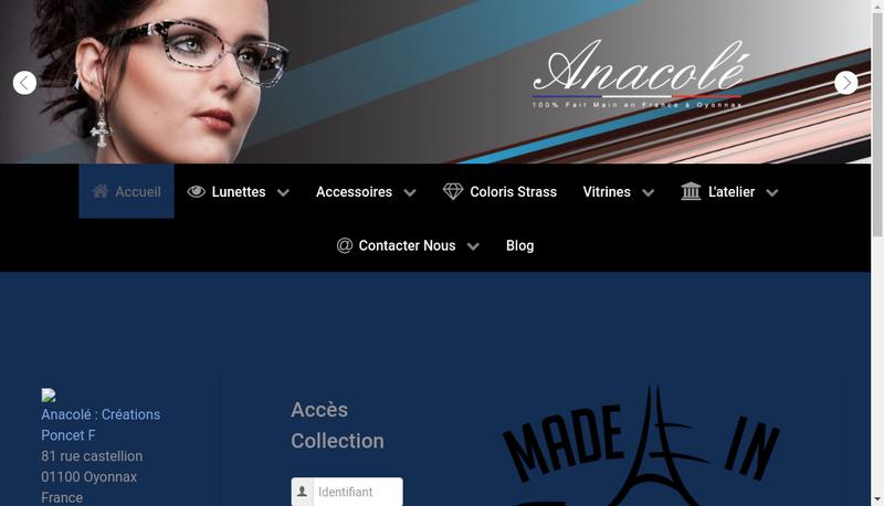 Capture d'écran du site de Creations Poncet F