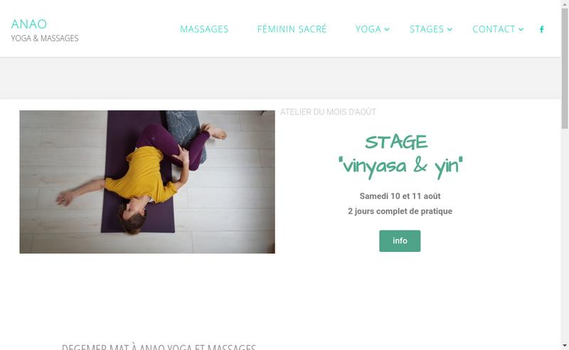 Capture d'écran du site de Jessica Ledresseur