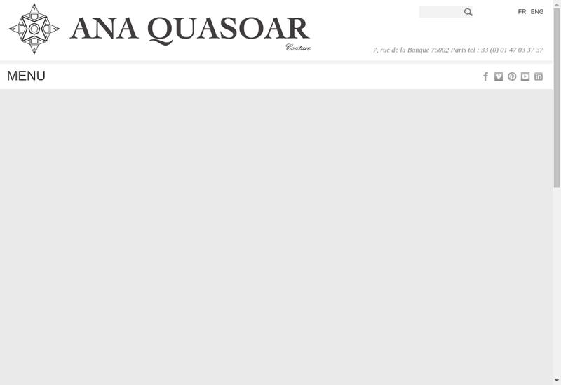 Capture d'écran du site de Ana Quasoar SARL