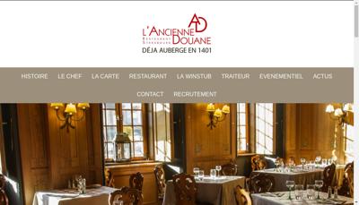 Capture d'écran du site de AL Ancienne Douane