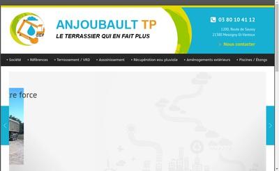 Site internet de SARL Anjoubault Tp
