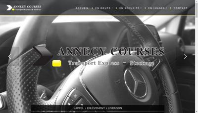Capture d'écran du site de Annecy Courses