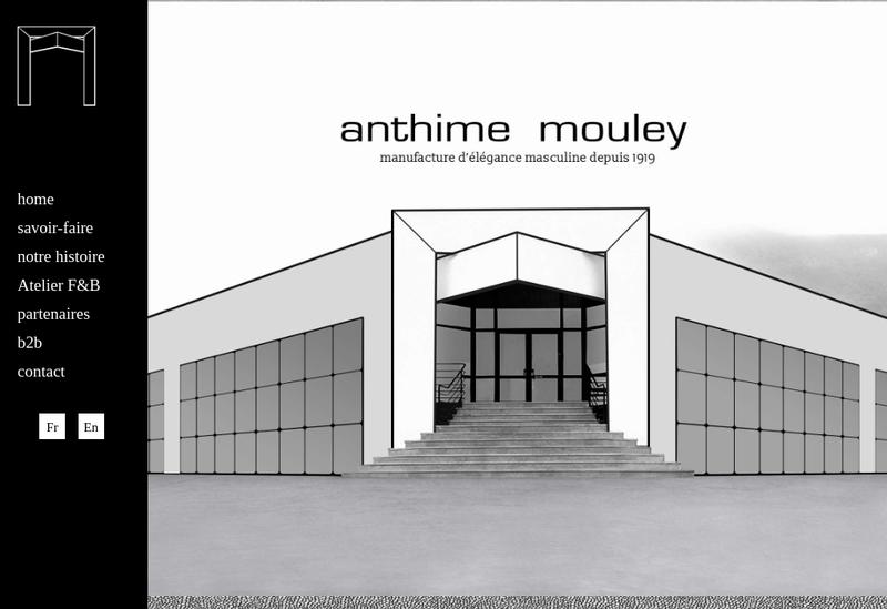 Capture d'écran du site de Anthime Mouley France SAS