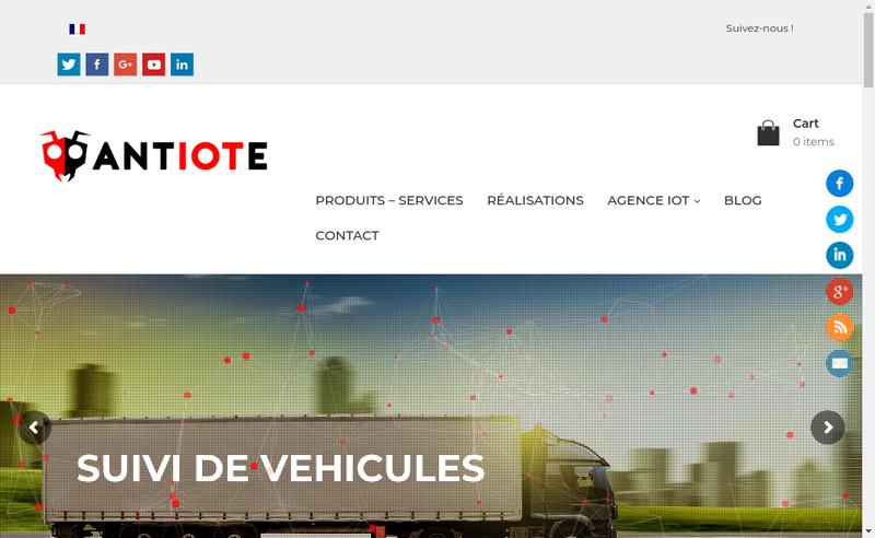 Capture d'écran du site de Antiote
