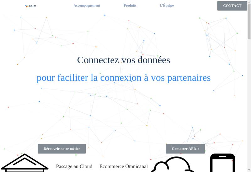 Capture d'écran du site de Apizr