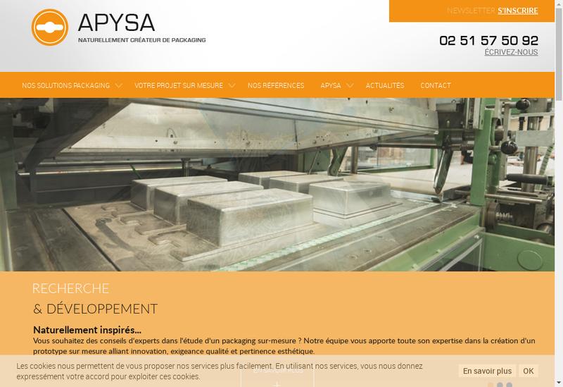 Capture d'écran du site de Apysa