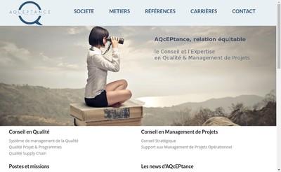 Site internet de Aqceptance
