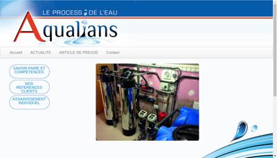Capture d'écran du site de Aqualians