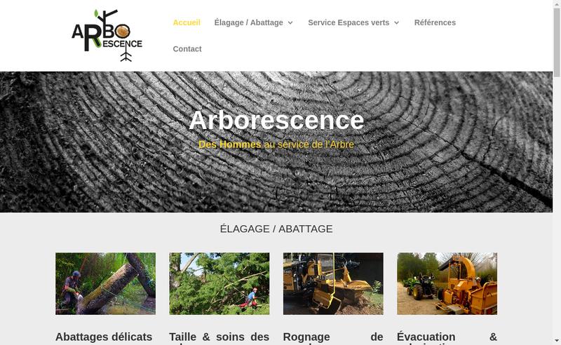 Capture d'écran du site de Arborescence
