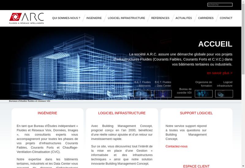 Capture d'écran du site de Architecture Reseaux et Communication