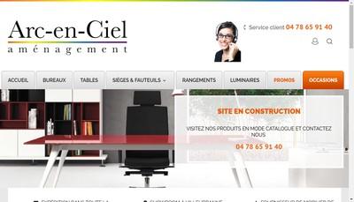 Site internet de Arc en Ciel Amenagement