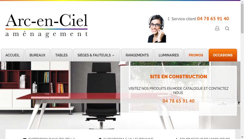 Capture d'écran du site de Arc en Ciel Amenagement