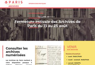 Capture d'écran du site de Not Archives