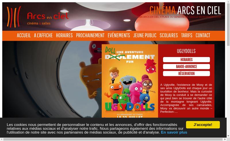 Capture d'écran du site de Les Toiles du Nord