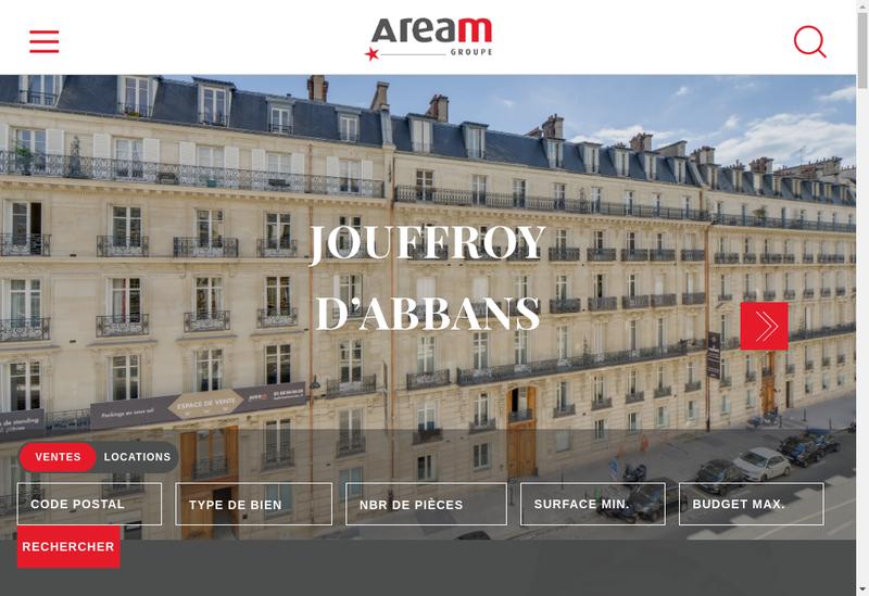 Capture d'écran du site de Aream Capital