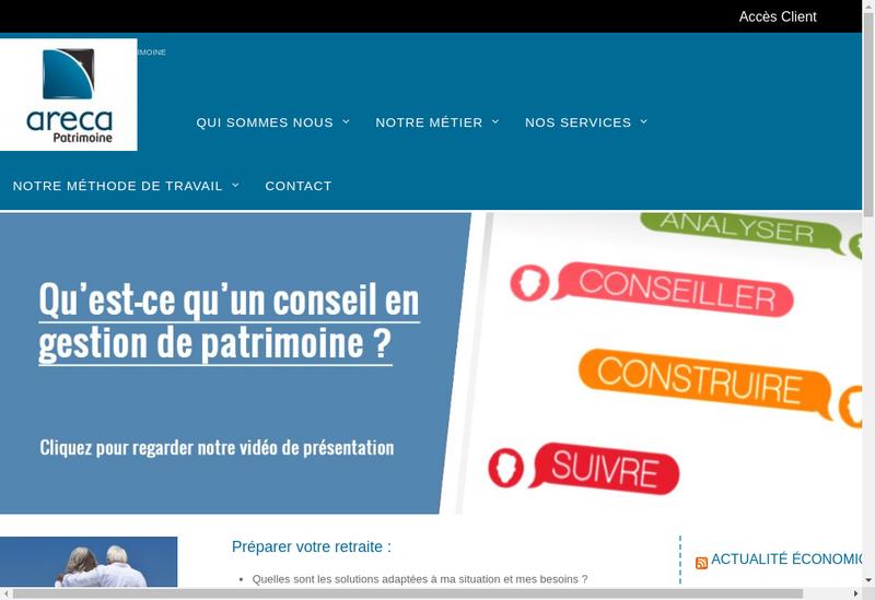 Capture d'écran du site de Pb Patrimoine