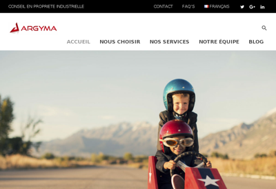 Capture d'écran du site de Argyma