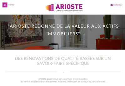 Capture d'écran du site de Arioste