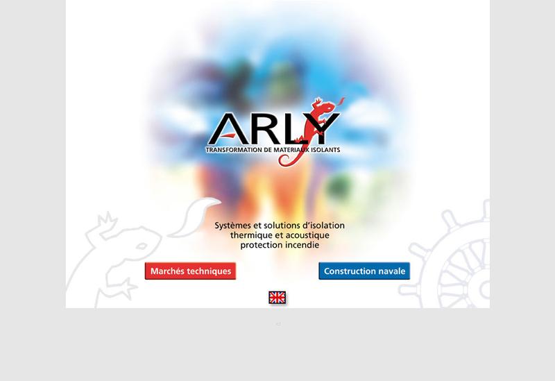 Capture d'écran du site de ARLY