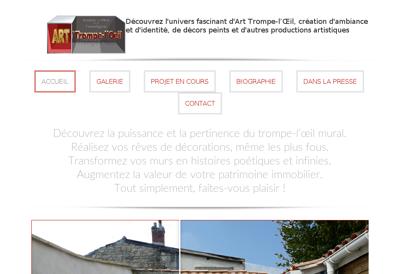 Capture d'écran du site de Pascal Bussiere