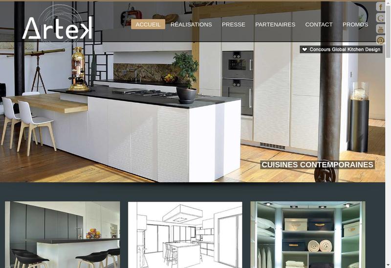 Capture d'écran du site de Artek