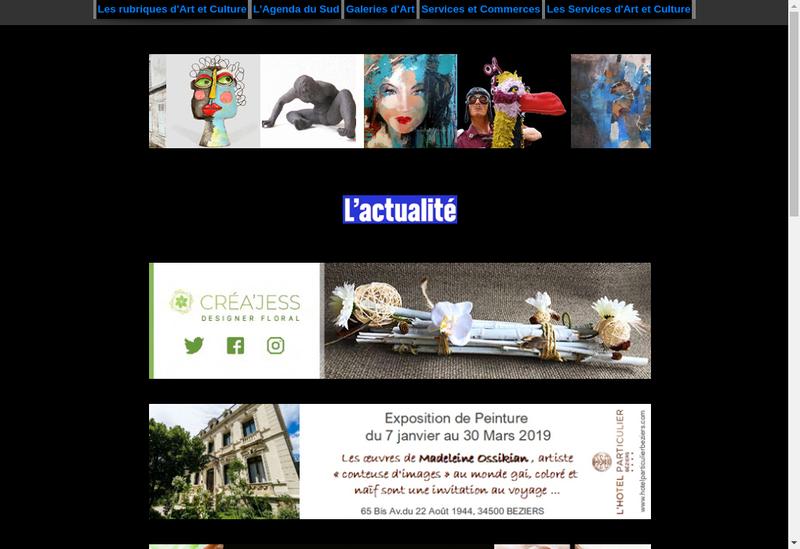 Capture d'écran du site de Art et Culture Mediterranee
