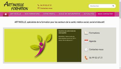 Capture d'écran du site de Art Incelle Formation