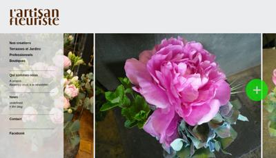 Capture d'écran du site de Artisan Fleuriste