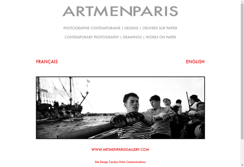 Capture d'écran du site de Artmenparis