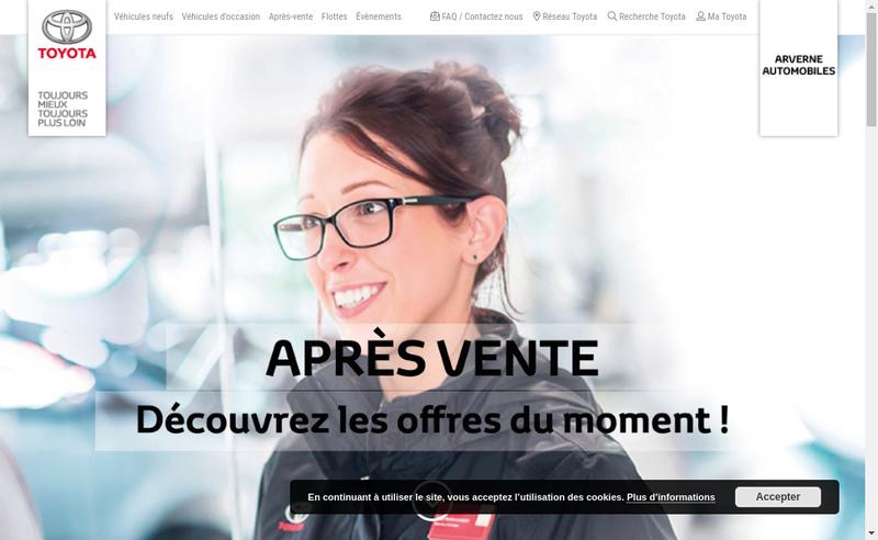Capture d'écran du site de Arverne Automobiles
