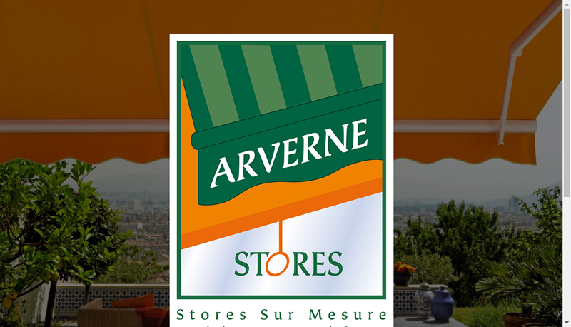 Capture d'écran du site de Arverne Stores