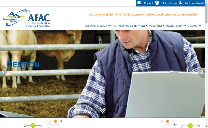 Capture d'écran du site de As Afac