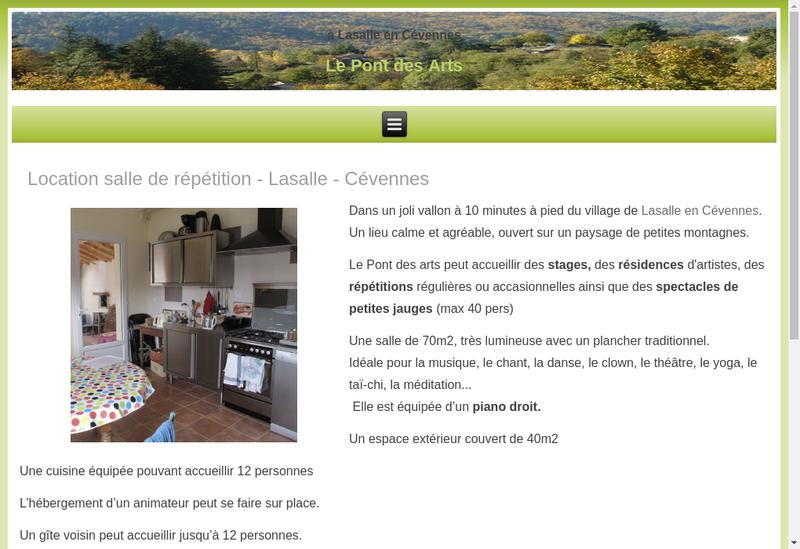 Capture d'écran du site de Ass Asart Aspiration Artistique