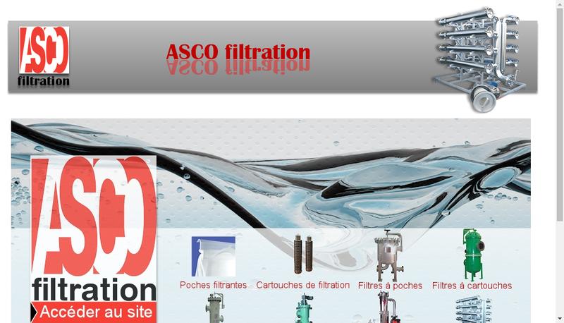 Capture d'écran du site de Asco Filtration